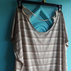 Green striped Tee by Lane Bryant sz 22/24